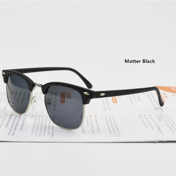 B036-Fashion High Quality Half Metal Sunglasses Men Women