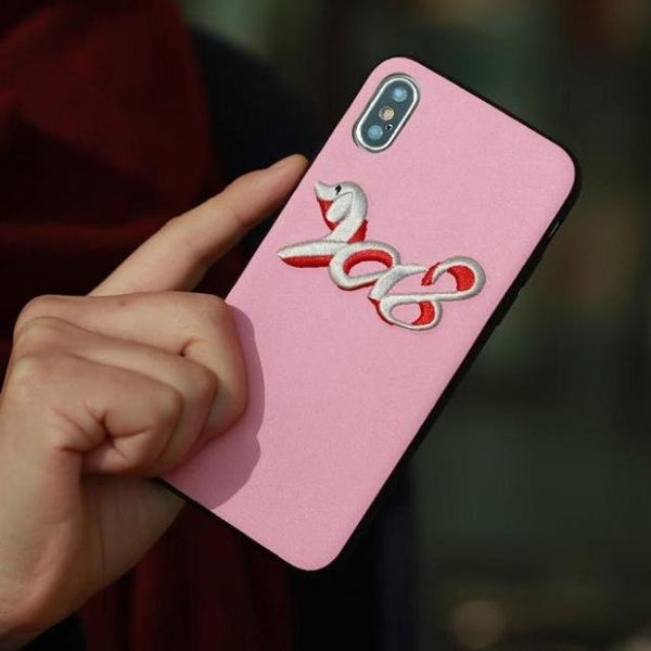 811-2018 Chinese New Year Of The Dog Phone Case For iPhone