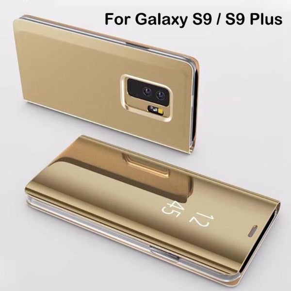 831-Electroplated Mirror Flip Case For S9/S9+