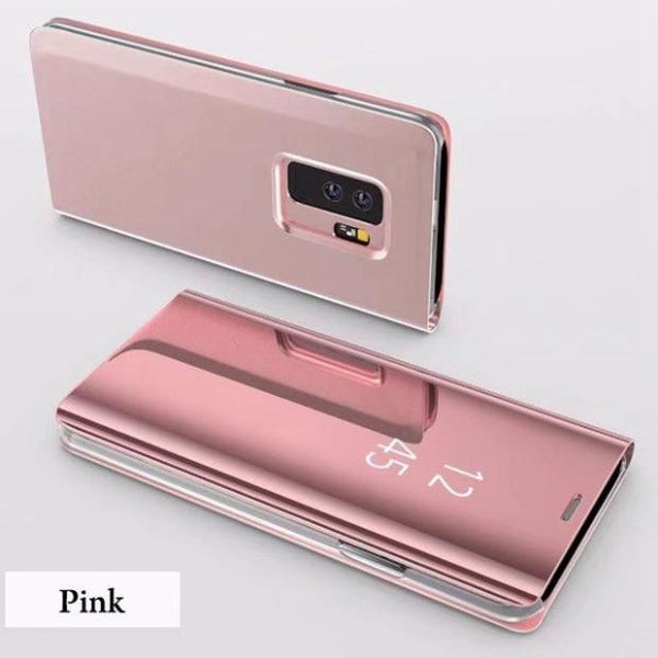 831A-Electroplated Mirror Flip Case For S9/S9+