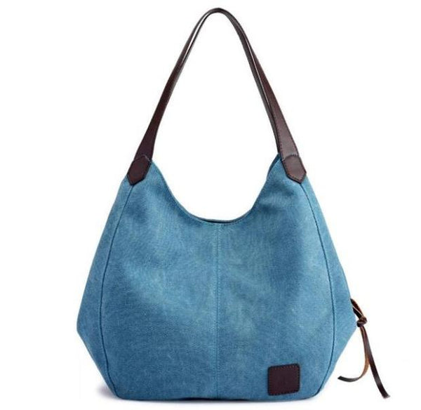 C008-Lady Fashion Shoulder Multi-compartment Leisure Tote Bag