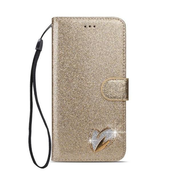 1038-Flip Luxury Leather Wallet Case For Samsung Note 9