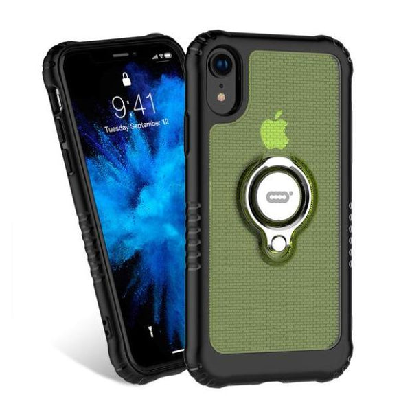 1063-Shockproof Ultra Thin Transparent Hard PC Magnetic Cases For iPhone