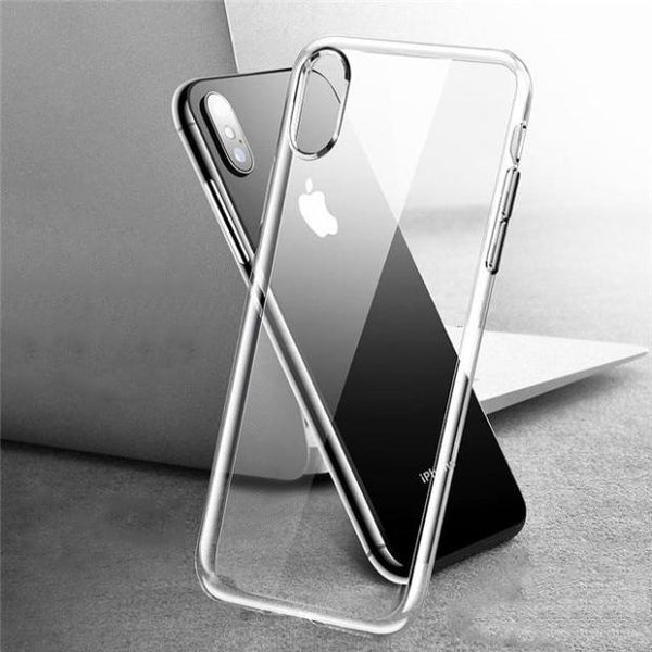 1046-Transparent TPU Cover Case For iPhone
