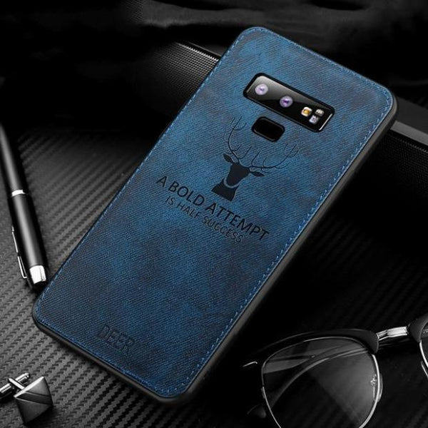 1023-Luxury Vintage Fabric Cloth Texture Soft Cases For Samsung Note 9