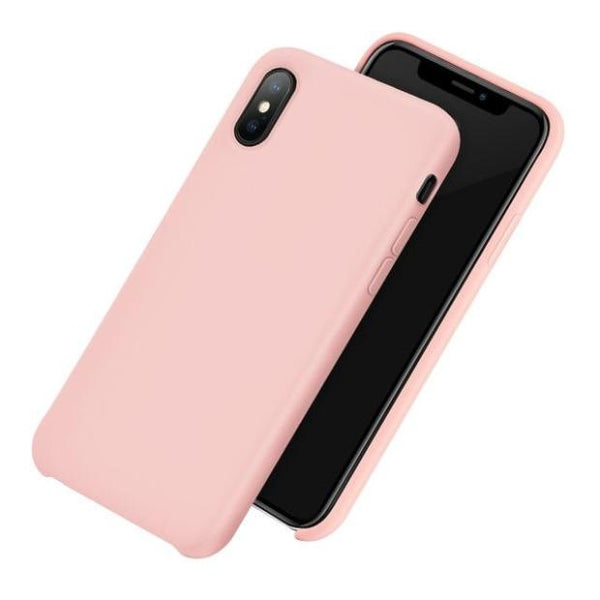 1031-Original Liquid Silicone Microfiber Case For iPhone