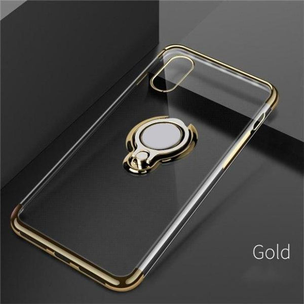 1033-Luxury Magnetic Ring Stand Case For iPhone