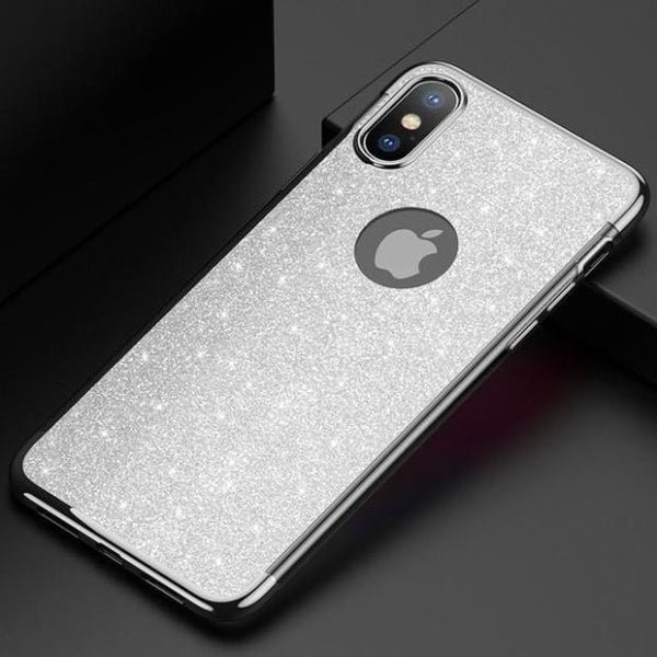 1043-Ultra-thin Fashion Glitter Plating Case For iPhone
