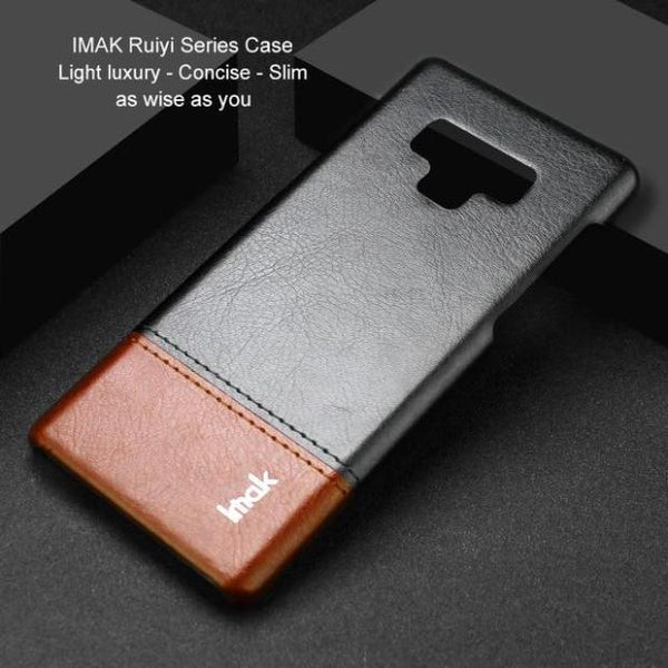 1039-Light Luxury Slim Concise PU Leather Case For Samsung Note 9