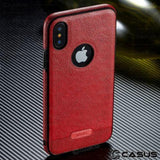 1107-Luxury Pu Leather Ultra Thin  Case For iPhone