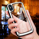 1056-Luxury Transparent Silicone Hard PC Case For iPhone