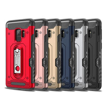810121-Luxury Hybrid Armor Case & Card Slot Stand For Samsung Galaxy Note 9 S9 S10 Plus