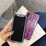 1060-Laser Soft Silicone Case For iPhone