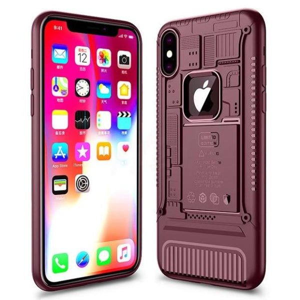 1115-Luxury Heavy Duty Silicone Anti-knock Case For iPhone