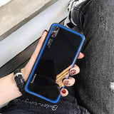 1105-Tempered GlassTPU Silicone Soft Case For iPhone