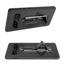 810111-Carbon Fiber Bracket Phone Case For Samsung Galaxy S9 S10 Plus  Note 9