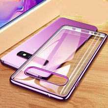 810046- Case 3D Laser Plating Luxury TPU Soft Clear Cover For Samsung Galaxy S10 Plus S10e