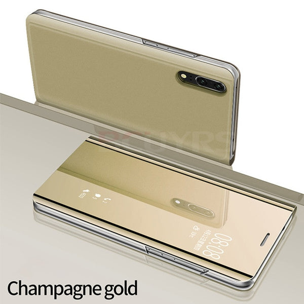 810077-Full Mirror leather Cases For Huawei P20 P30  Pro