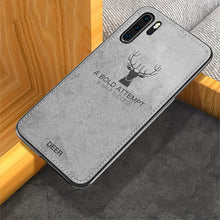 810097-Cloth Distressed Hard Back Cover Soft Frame Fabric Fundas Case For Huawei P20/P20 Pro/P30/P30 Pro