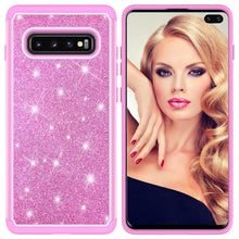 810062-Girl & Glitter Phone Case For Samsung Galaxy S10/S10 Plus