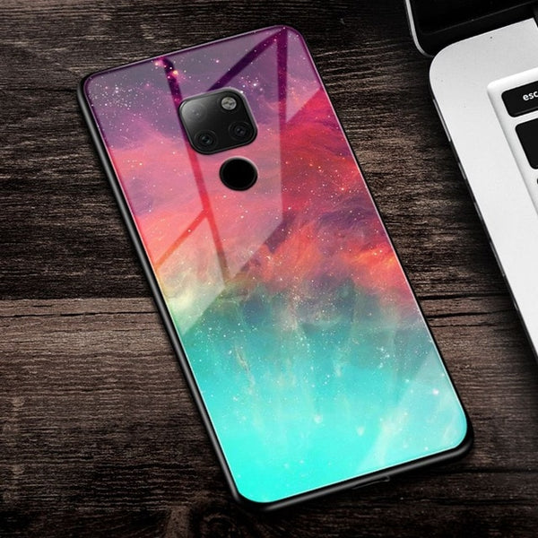 Eqvvol Tempered Glass Space Huawei Case