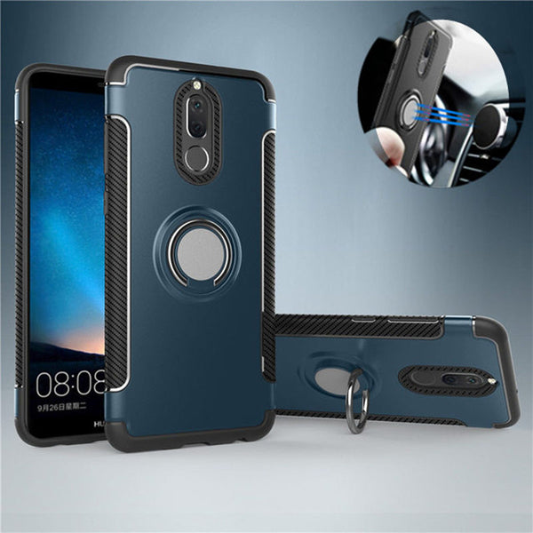 810100-Magnetic Ring Armor Case For Huawei