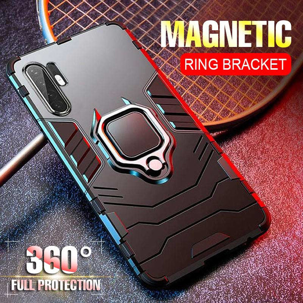 810078-Luxury Magnetic Kickstand Car Holder Ring Case On The For Huawei P30 P20 Pro