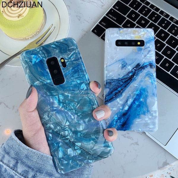 Shell Marble Phone Cases For Samsung Galaxy S10 Plus