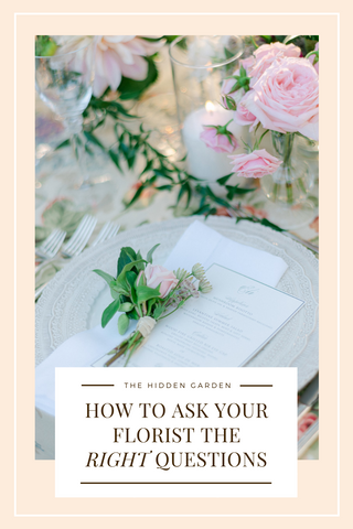 How To Ask Your Florist The Right Questions