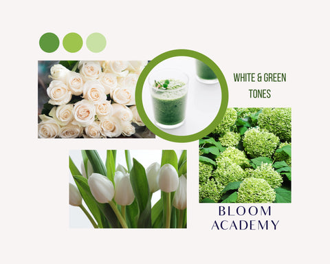 White & Green Flower Combinations