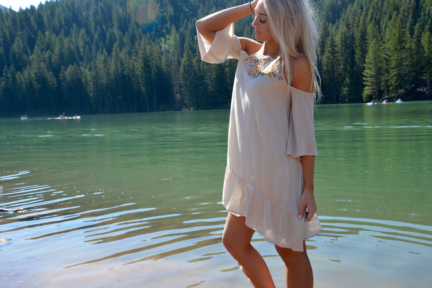 Summer Vibes Cold Shoulder Dress