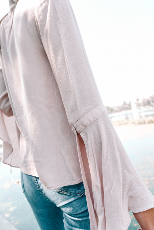 Go With The Flow Mauve Top