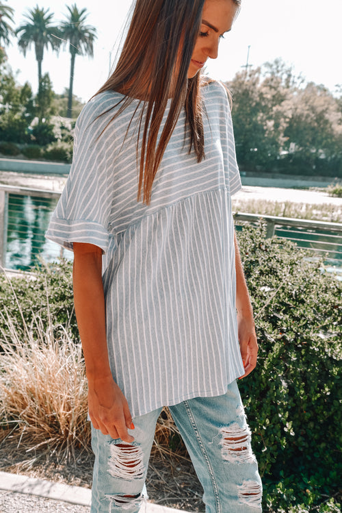 Sail Away Striped Tunic Tee