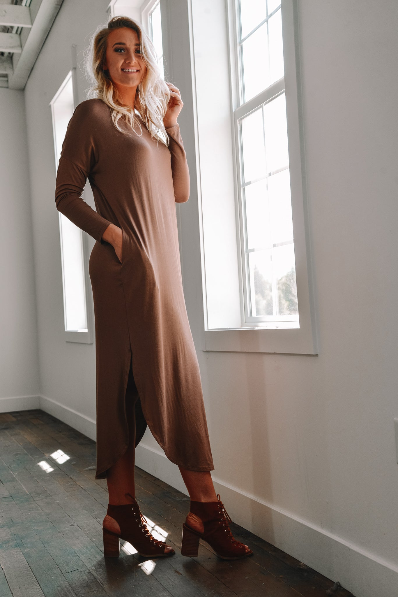 For The Love of Coffee Maxi Dress