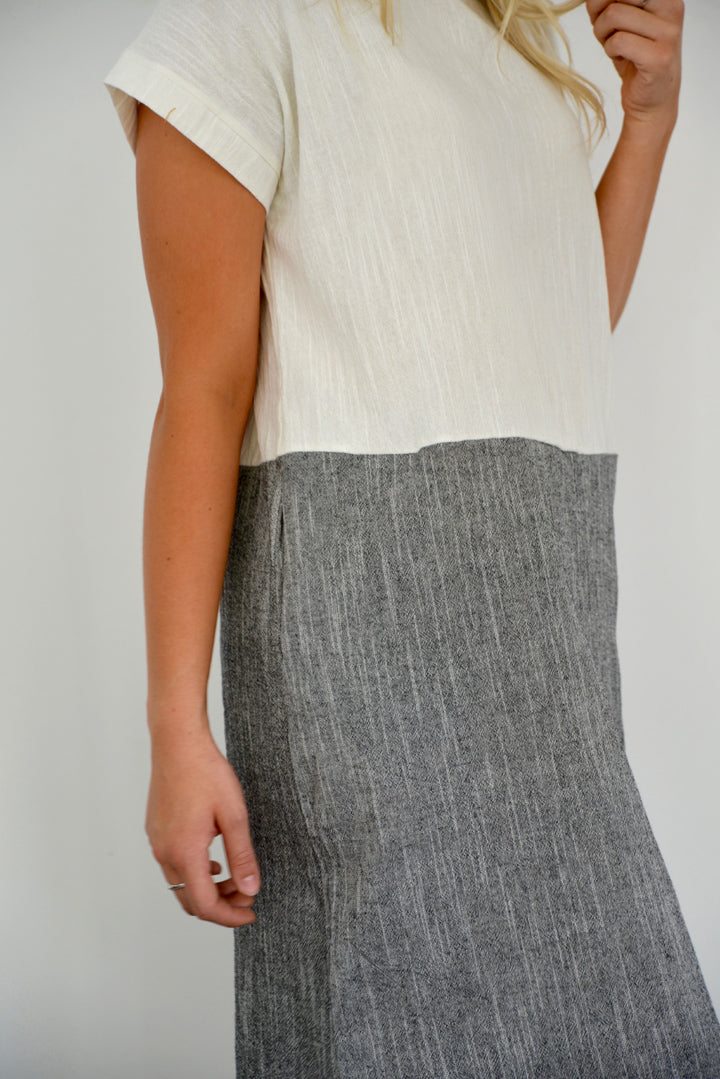 Gray Me Simple Dress