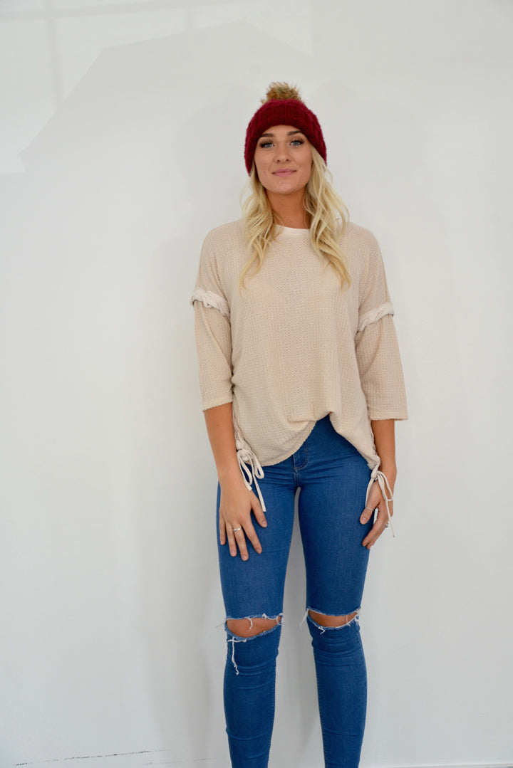 Tickle Me Taupe Top