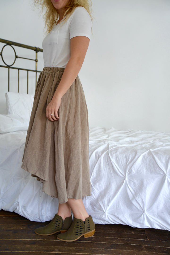 Peasant High-Low Skirt