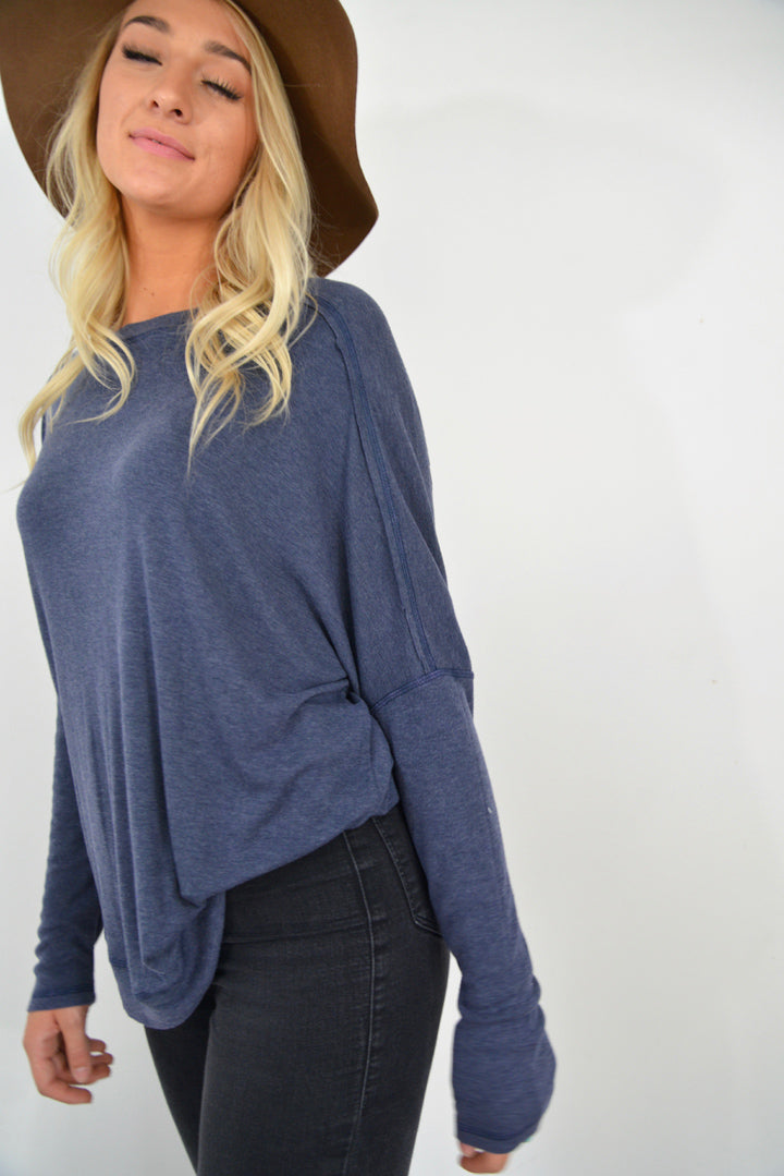 Crazy for Navy Top