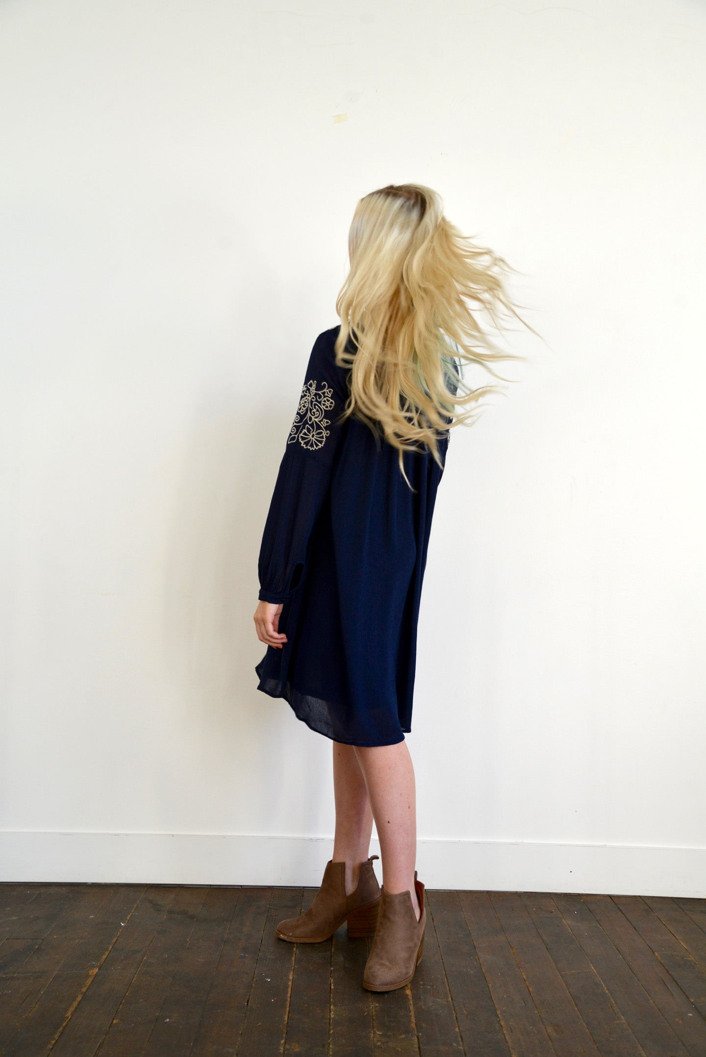 Pleasantly Surprised Navy Dress