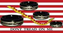 "Engraved Honor Ring (""Don't Tread on Me"")"
