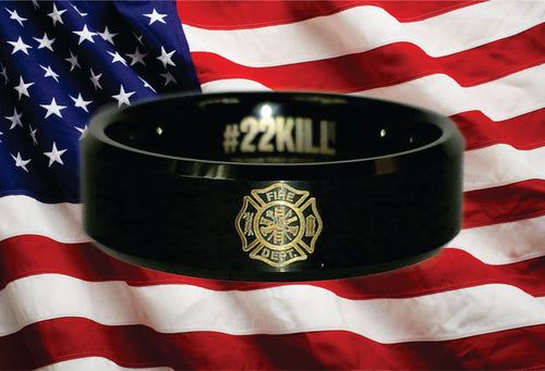 Engraved Honor Ring (Fire Dept. Maltese Cross)
