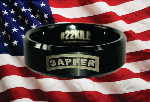 Engraved Honor Ring (Army Sapper)