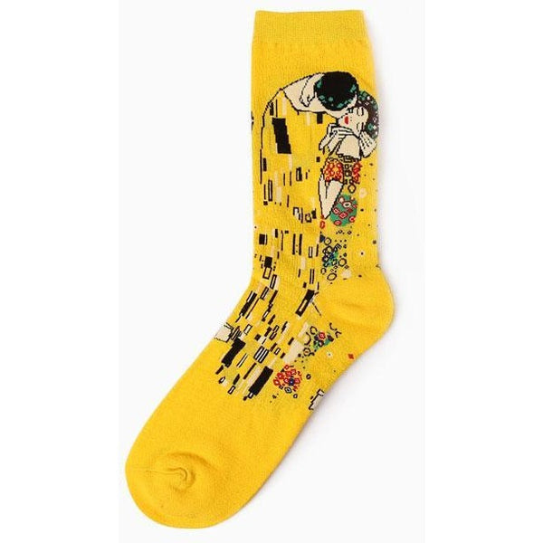Oil Painting Retro Socks
