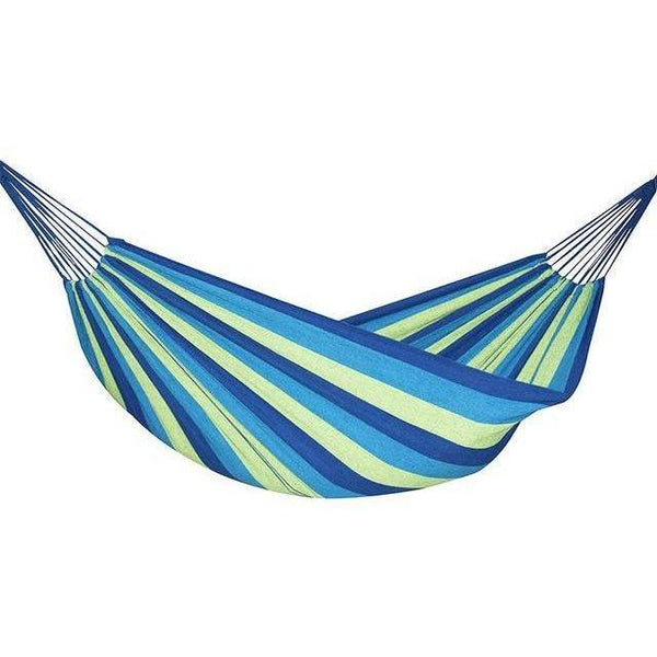 Retro Two Person Striped Hammock - Blue