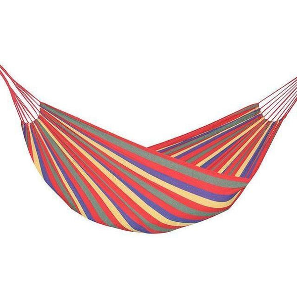 Retro Two Person Striped Hammock - Red