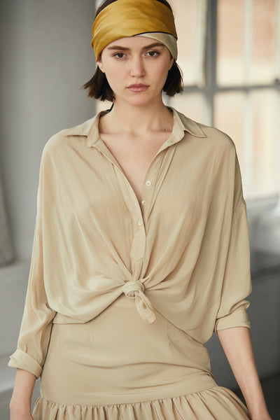 Pull Over Top 100% Recycled Polyester - Beige