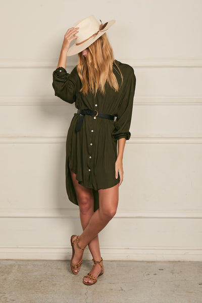 Boyfriend Tunic 100% Recycled Polyester - Olive