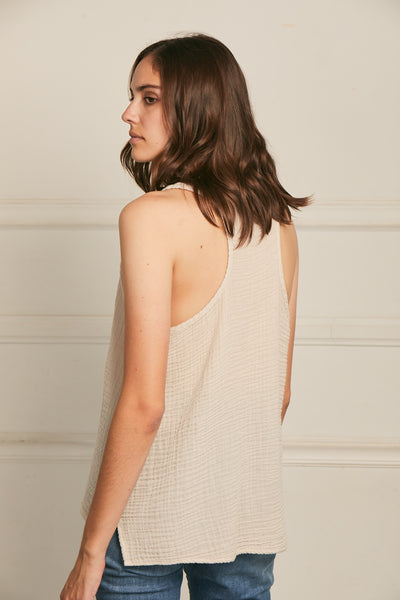 Racerback Tank Cotton Gauze - Flint