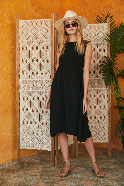 Easter Dress Gauze - Black