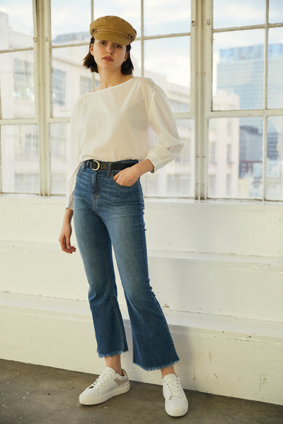 Puff Sleeve Top- White